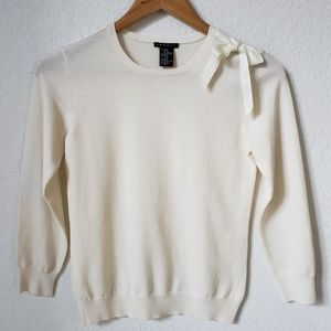 Theory off white wool sweater size small
